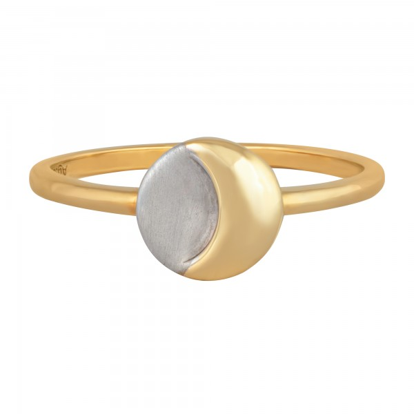 cai 925/- Sterling Silber bicolor Mond Luna Ring