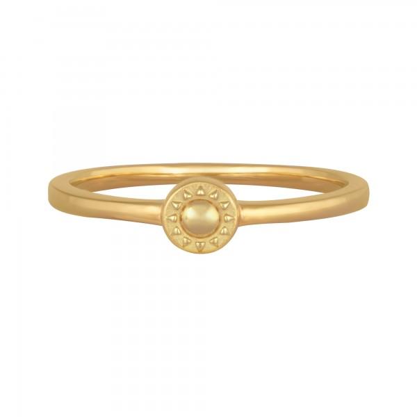 cai 925/- Sterling Silber vergoldet Sonne Ring
