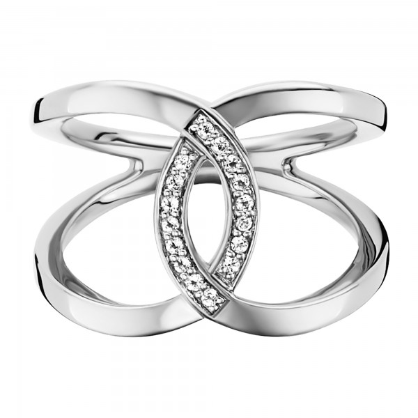 cai 925/- Sterling Silber rhodiniert Topas Ring
