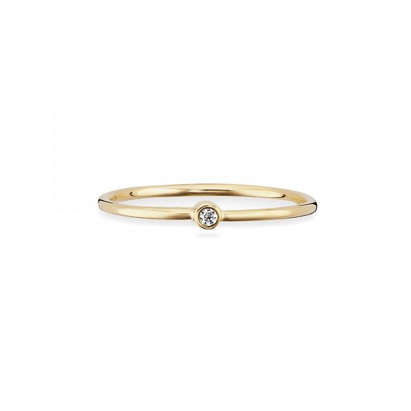 cai Ring 925/- Sterling Silber gelb vergoldet Zirkonia