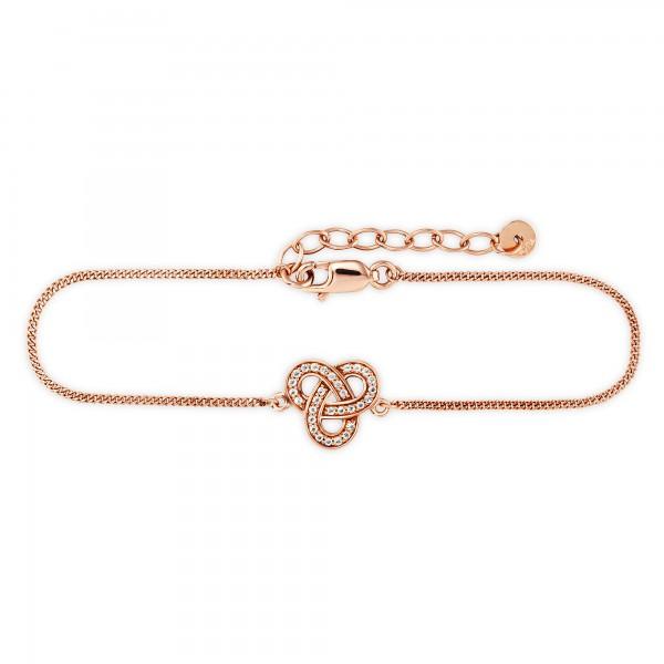 cai Armband 925/- Sterling Silber rotvergoldet Topas