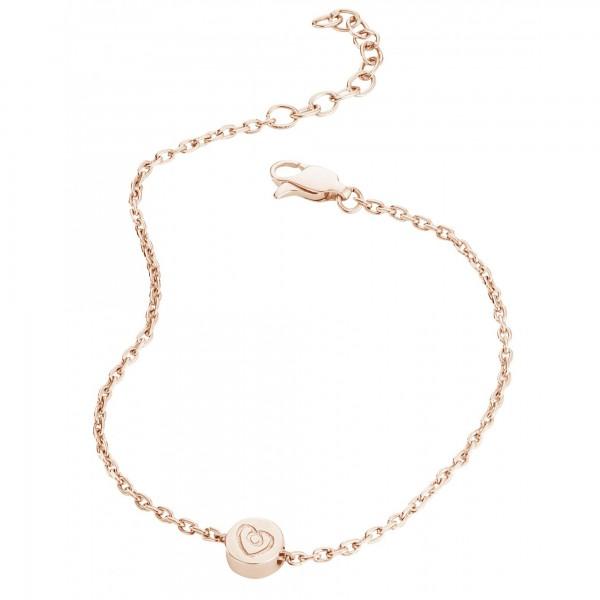 cai Armband 925/- Sterling Silber rotvergoldet Herz