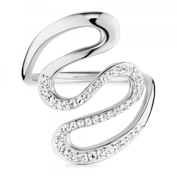 cai Ring 925/- Sterling Silber rhodinert Topas