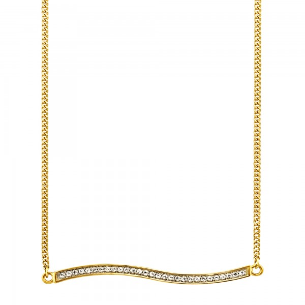 cai Collier 925/-Sterling Silber vergoldet Topas