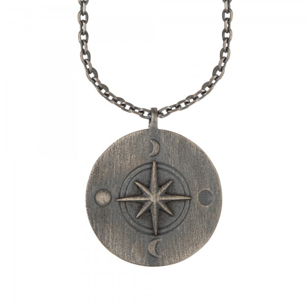 cai Halskette Element Luft 925/- Sterling Silber oxidiert