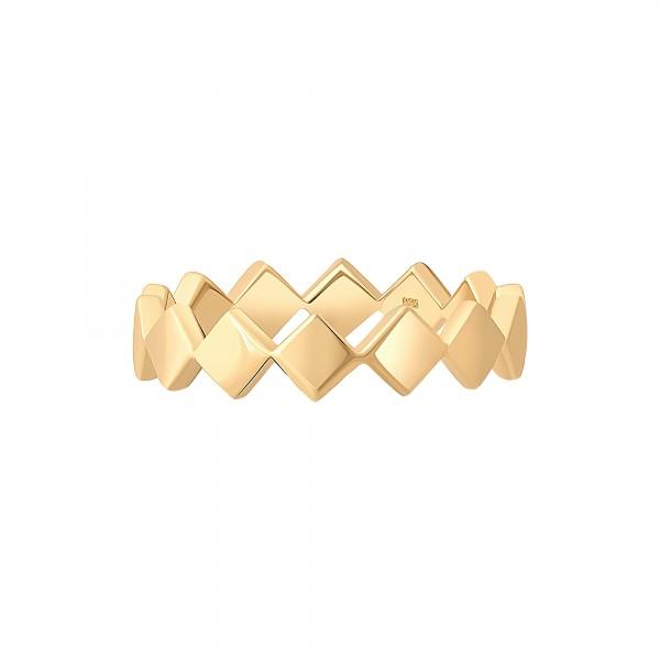 cai Ring 925 Silber vergoldet Rauten