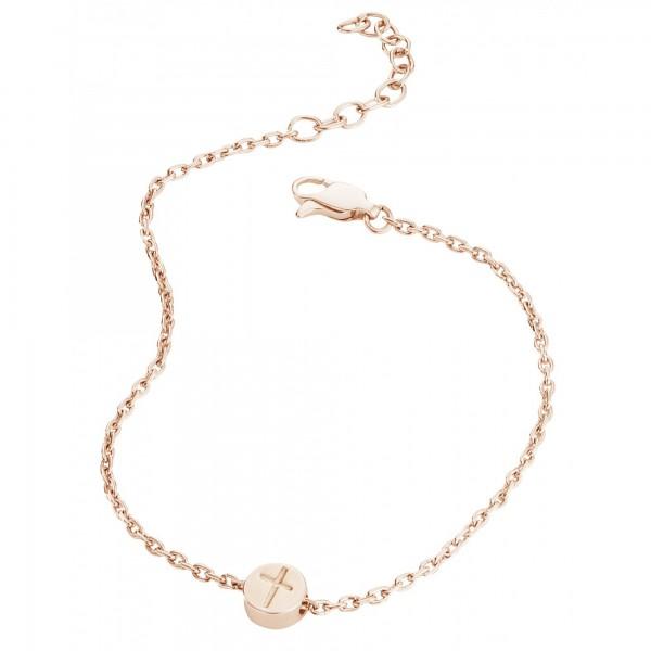 cai Armband 925/- Sterling Silber rotvergoldet Kreuz