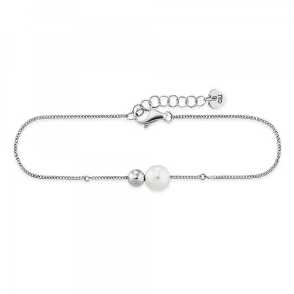 cai Armband 925/- Sterling Silber rhodiniert Perle Kugel