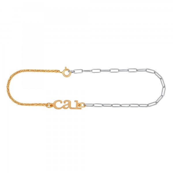 cai Armband Kettenmix 925/- Sterling Silber bicolor
