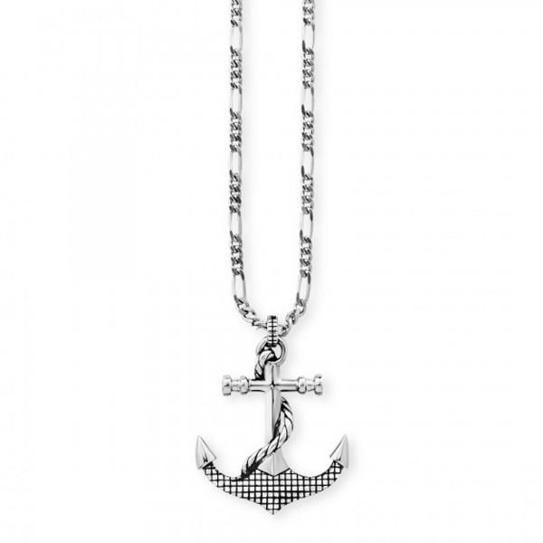 cai Anhänger mit Kette 925/- Sterling Silber rhodiniert Anker