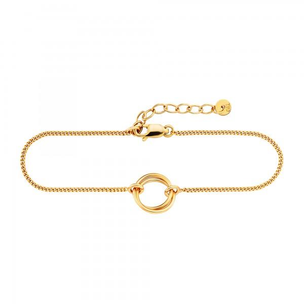 cai Armband 925/- Sterling Silber gelb vergoldet Ringe