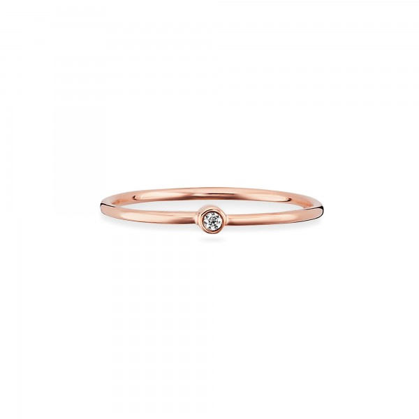 cai 925/- Sterling Silber rotvergoldet Zirkonia Ring