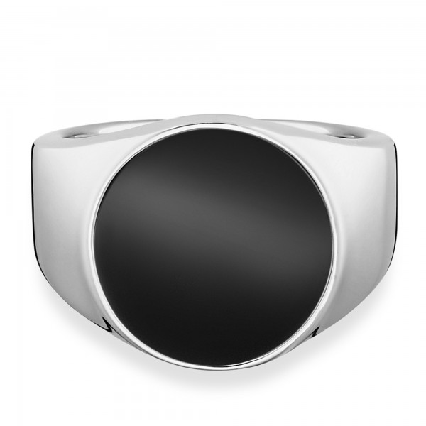 cai Ring 925/- Sterling Silber rhodiniert Onyx