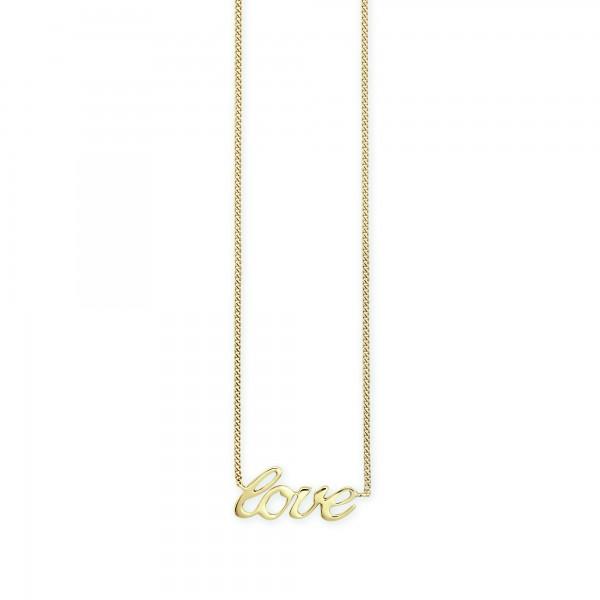 cai Collier 925/- Sterling Silber vergoldet Love