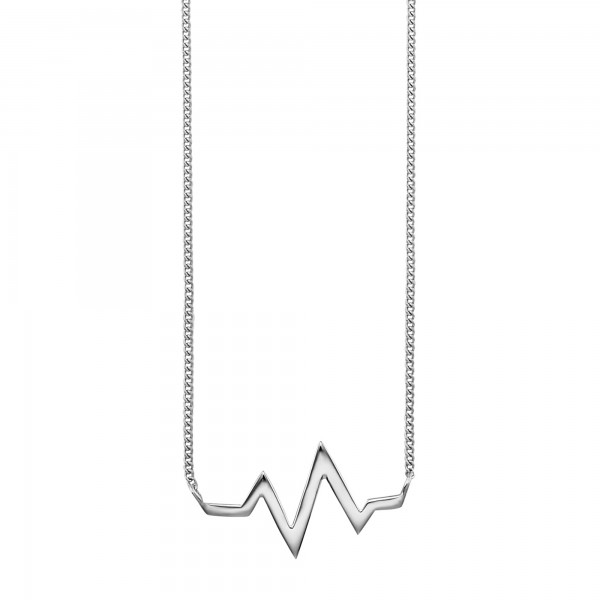 cai Collier 925/- Sterling Silber rhodiniert Herzschlag