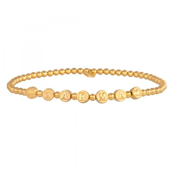 cai Stretch-Armband 925/- Sterling Silber vergoldet KARMA