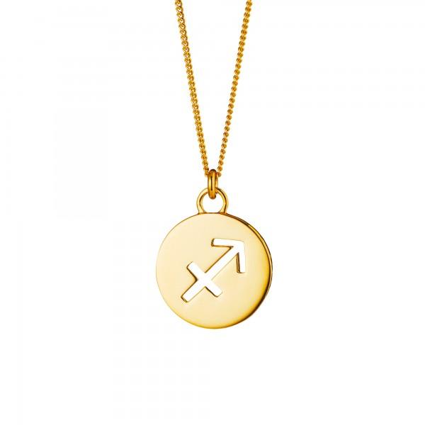 cai Halskette Schütze Sternzeichen 925/- Sterling Silber vergoldet