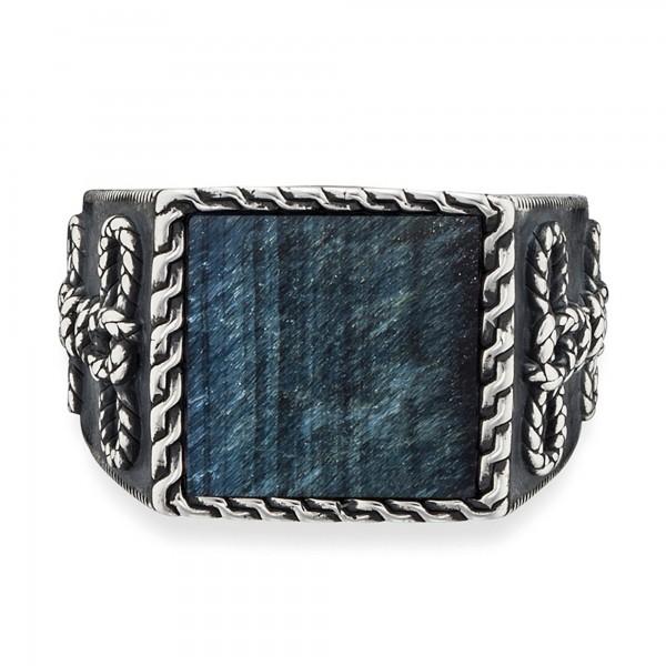 cai 925/- Sterling Silber rhodiniert Tigerauge Ring