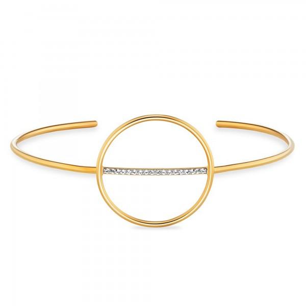 cai Armreif 925/- Sterling Silber vergoldet Topas