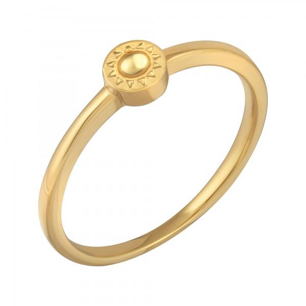 cai Ring 925/- Sterling Silber vergoldet Sonne