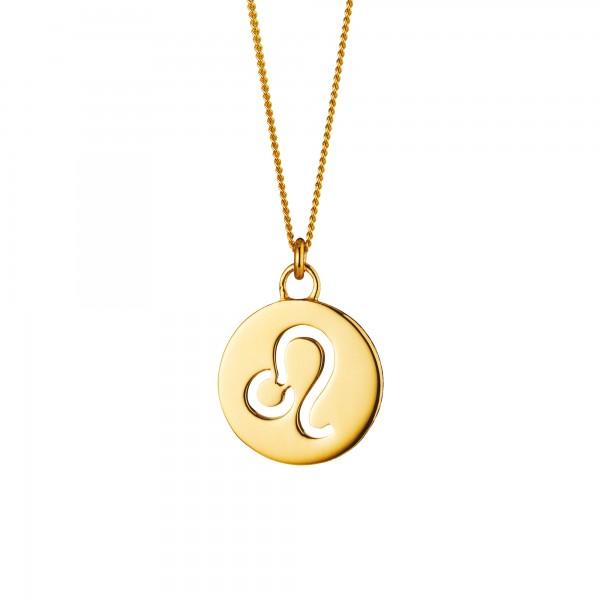 cai Halskette Löwe Sternzeichen 925/- Sterling Silber vergoldet