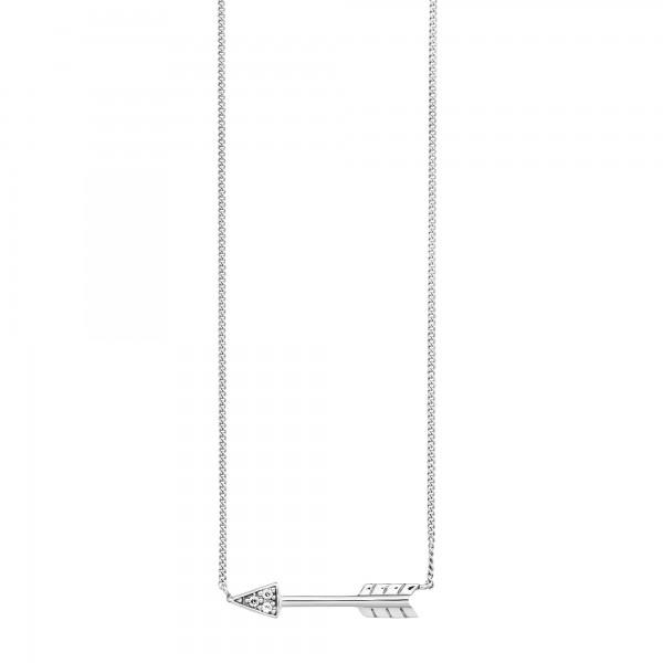cai Collier 925/- Sterling Silber rhodiniert Zirkonia Pfeil