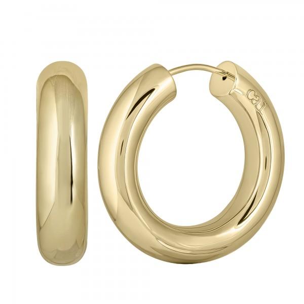 cai Creolen Chunky Hoops 925/- Sterling Silber vergoldet