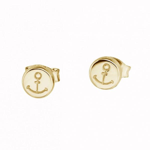 cai Ohrstecker 925/ Sterling Silber vergoldet Anker