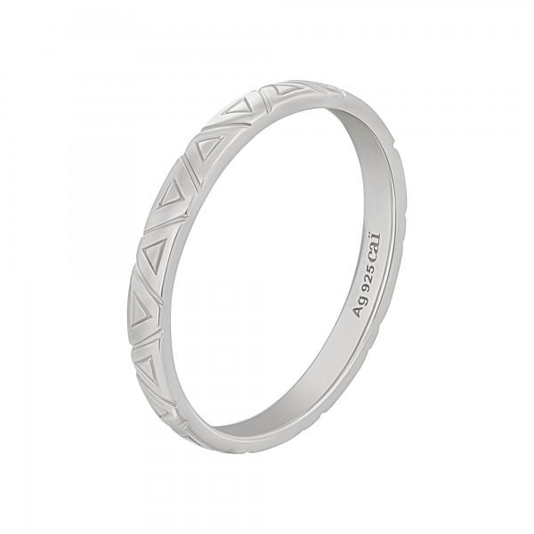 cai Ring 925 Silber rhodiniert Dreiecke Stacking