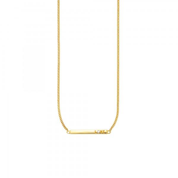 cai Collier 925/- Sterling Silber vergoldet Zirkonia