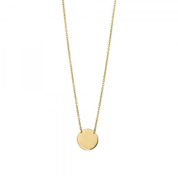 cai Collier 925/-Sterling Silber vergoldet Plättchen Boho