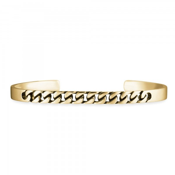 cai Armband 925 Silber vergoldet mit schwarzer Farbe
