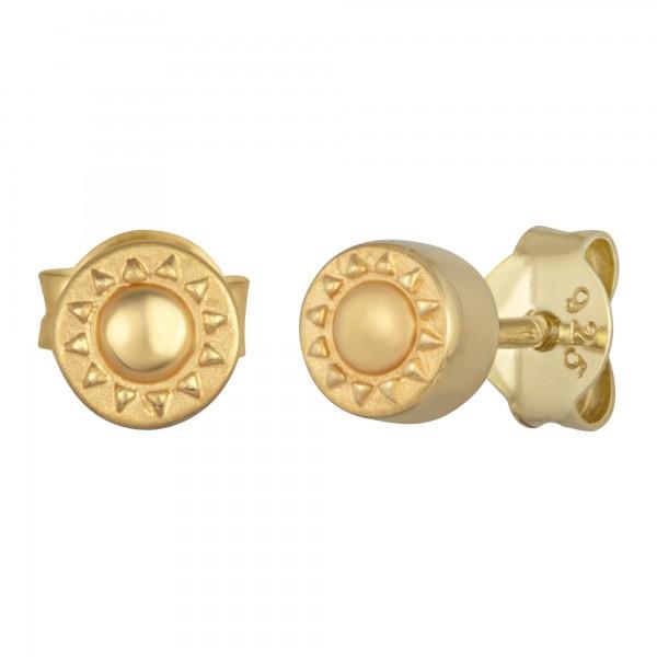 cai Ohrstecker 925/- Sterling Silber vergoldet Sonne