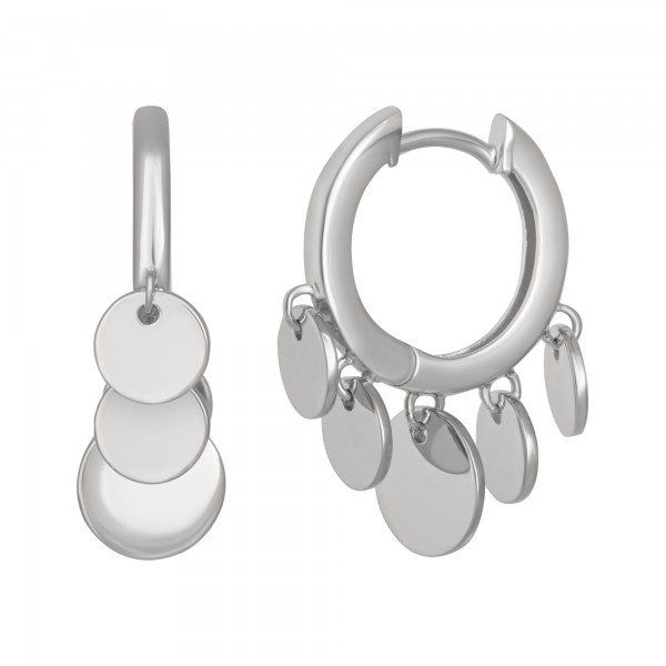 cai Creolen Boho dangling hoops 925/- Sterling Silber rhodiniert