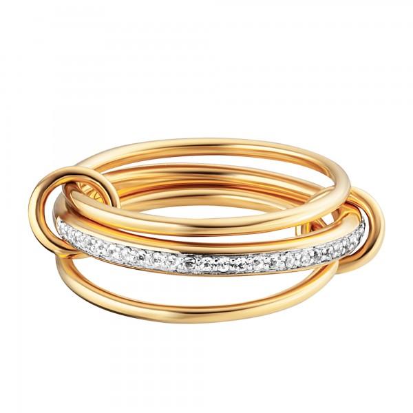 cai Ring c925/- Sterling Silber gelb vergoldet Topas