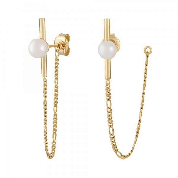 cai Ohrhänger 925/- Sterling Silber vergoldet Perlen