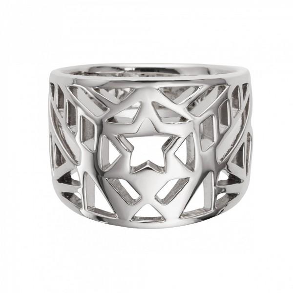 cai Ring 925/- Sterling Silber rhodiniert Stern