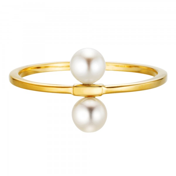 cai Ring 925/- Sterling Silber vergoldet Perlen