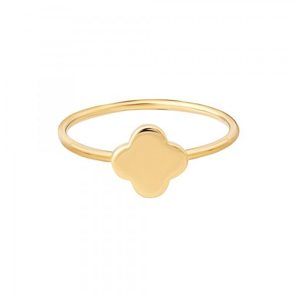 cai Ring 925 Silber vergoldet Clover / Kleeblatt