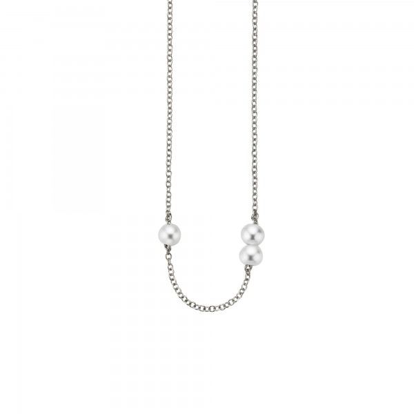 cai Collier 925/- Sterling Silber Süßwasserzuchtperlen
