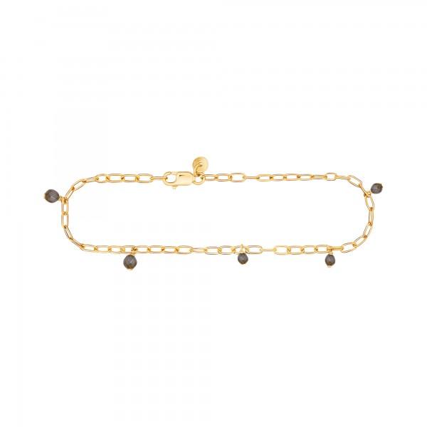 cai Armband 925 Silber vergoldet Hämatit