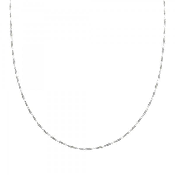 cai Collier 925/- Sterling Silber Schlangenkette vierseitig diamantiert gedreht rhodiniert