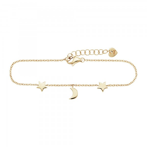 cai Armband 925/- Sterling Silber vergoldet Mond Sterne