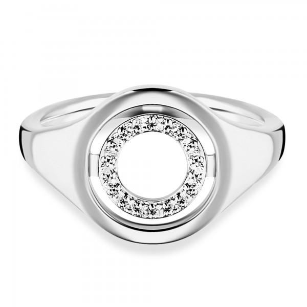 cai Ring 925/- Sterling Silber rhodiniert Topas