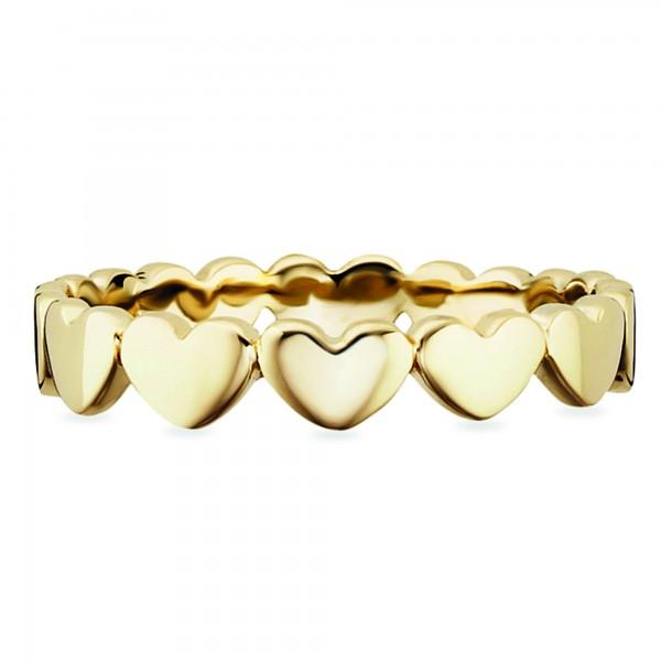 cai Ring 925/- Sterling Silber vergoldet Herzen