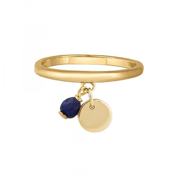 cai Ring 925 Silber vergoldet Anhänger Lapislazuli Plättchen