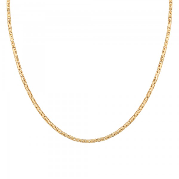cai Collier 925 Silber vergoldet Königskette diamantiert