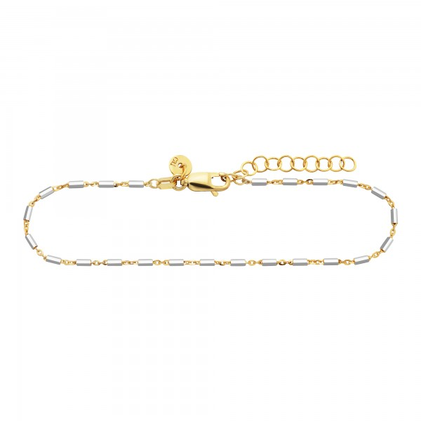 cai Armband 925/- Sterling Silber bicolor