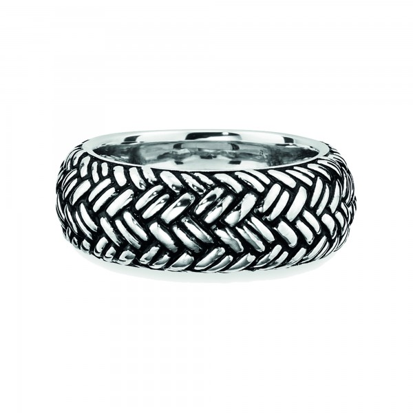 cai Ring 925 Sterling Silber rhodiniert Paracord