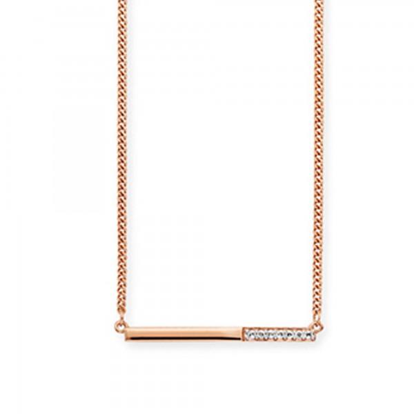 cai Collier 925/- Sterling Silber rotvergoldet Topas